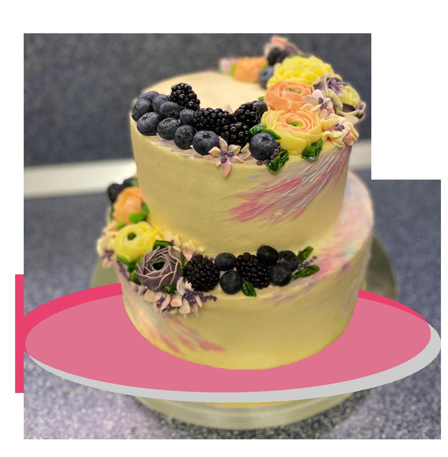 свадебный торт двухъярусный