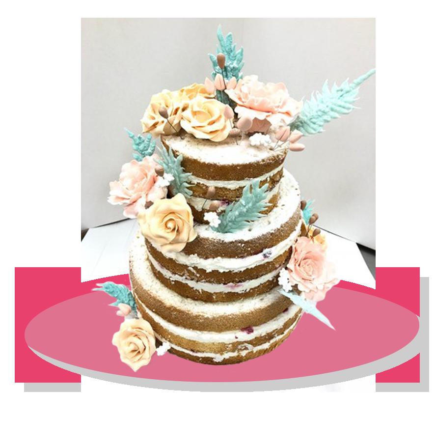 свадебный торт трехъярусный