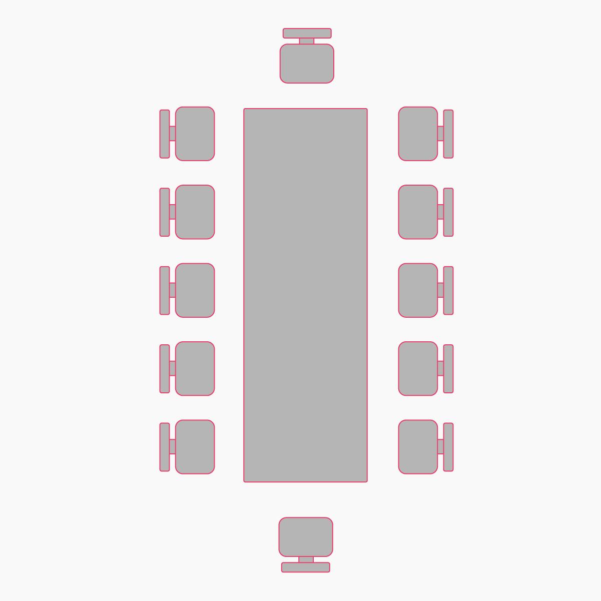 рассадка гостей одним столом в фисташковом зале
