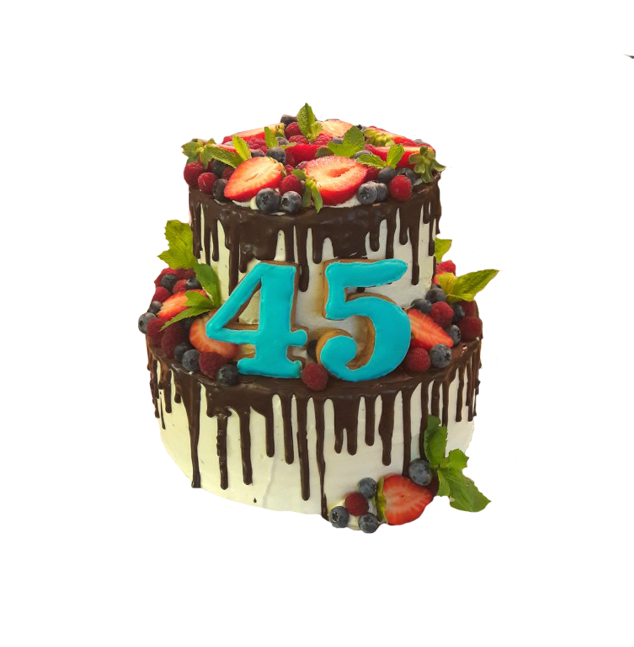 Торт на день рождения двухъярусный ТД-10