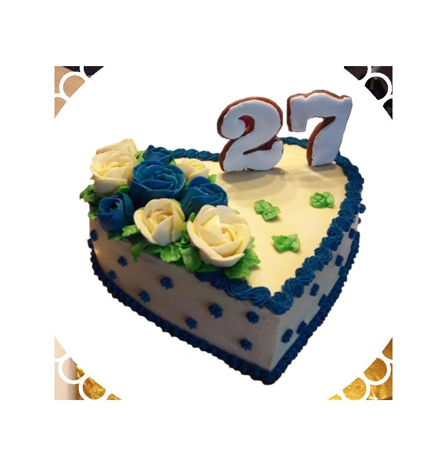 Торт на день рождения сердце ТС-3