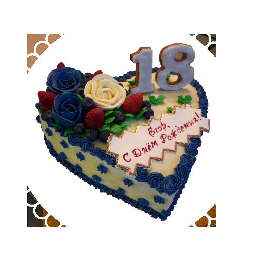 Торт на день рождения сердце ТС-5
