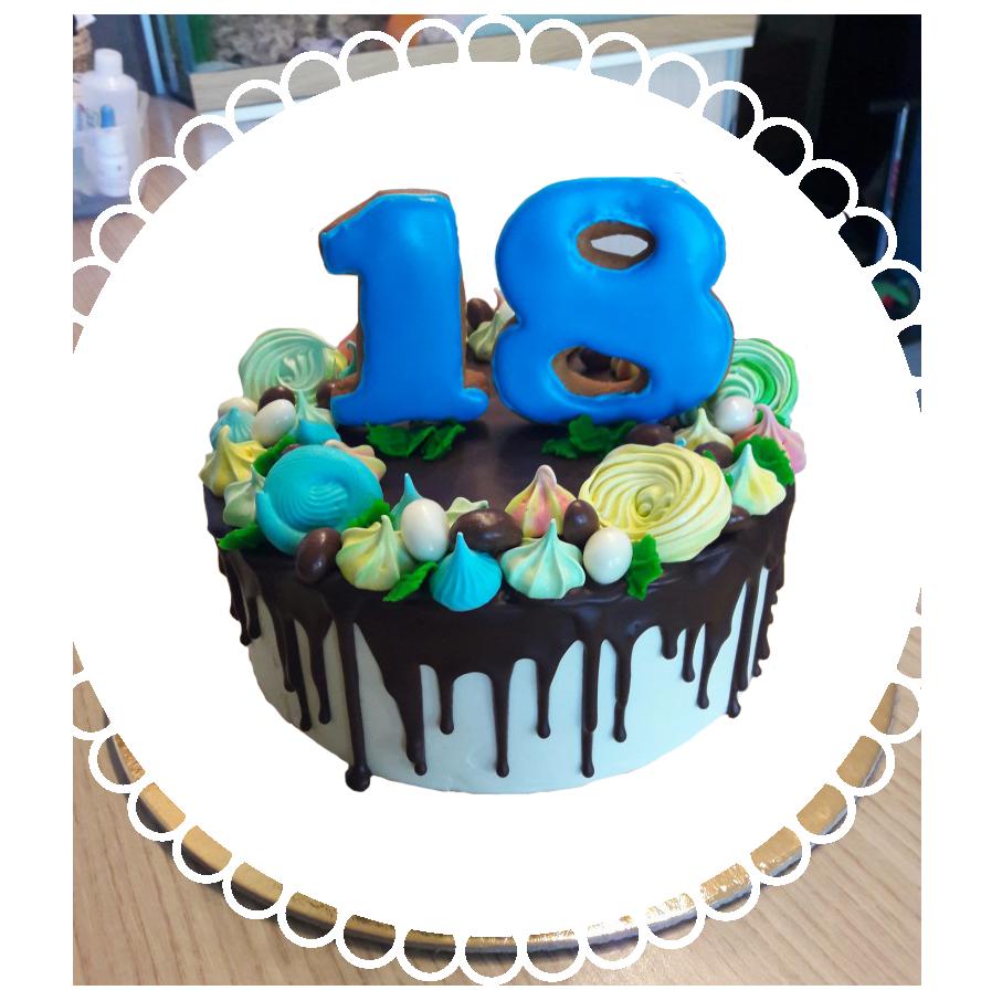 Торт для дня рождения круглый ТК-16