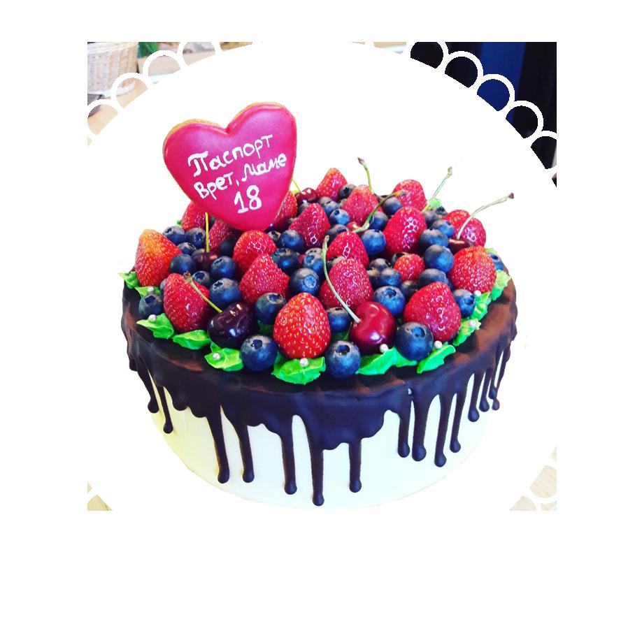 Торт на день рождения круглый ТК-17