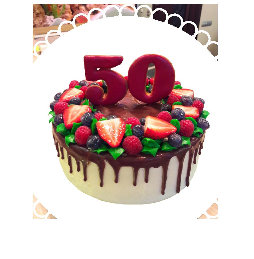 Торт на день рождения круглый ТК-18