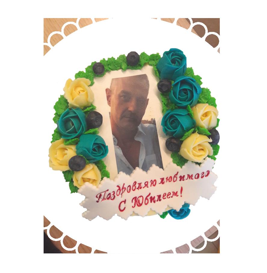 Торт на день рождения круглый ТК-19