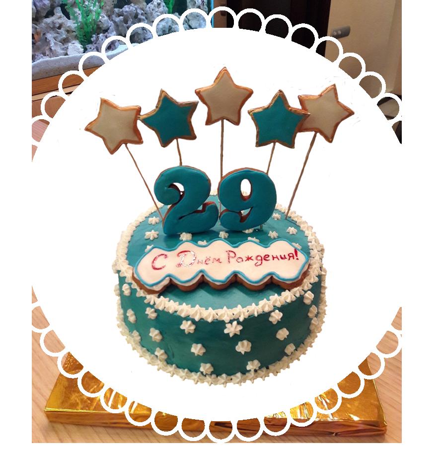 Торт на день рождения круглый ТК-21