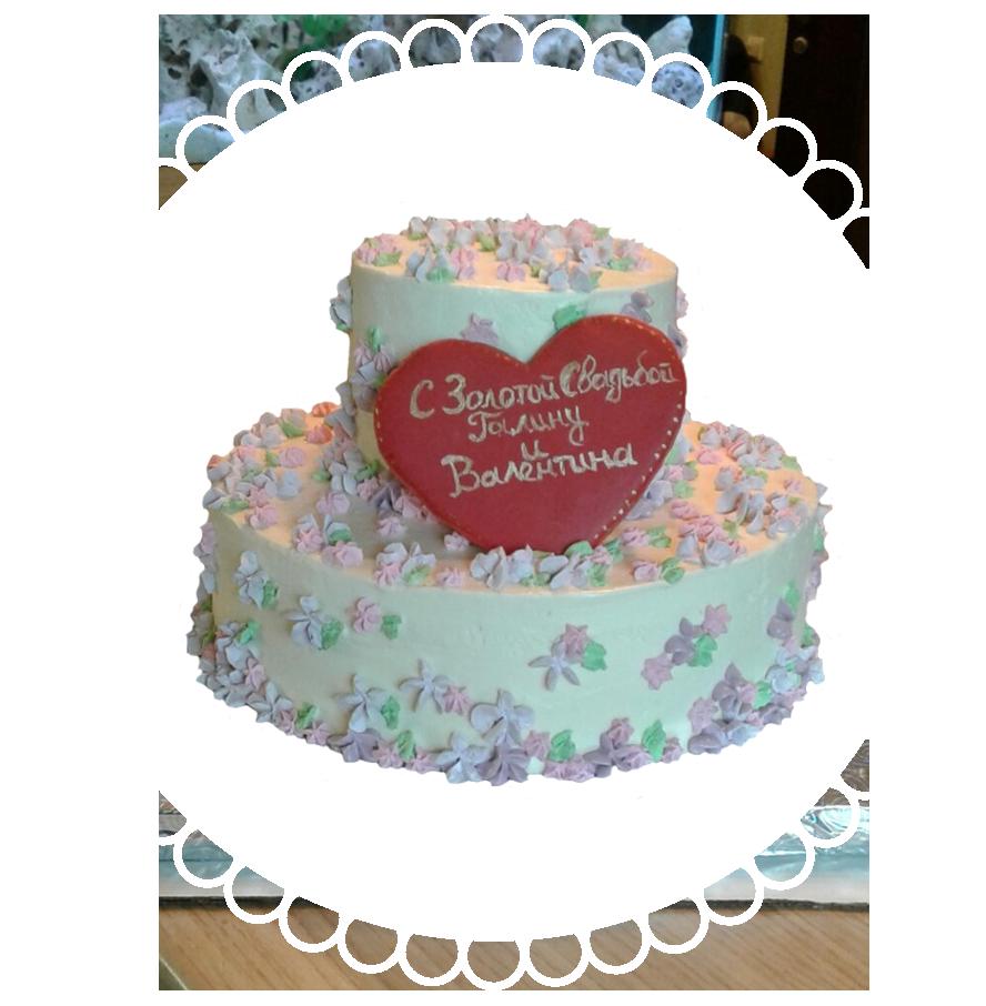 Торт на годовщину свадьбы круглый ТД-11