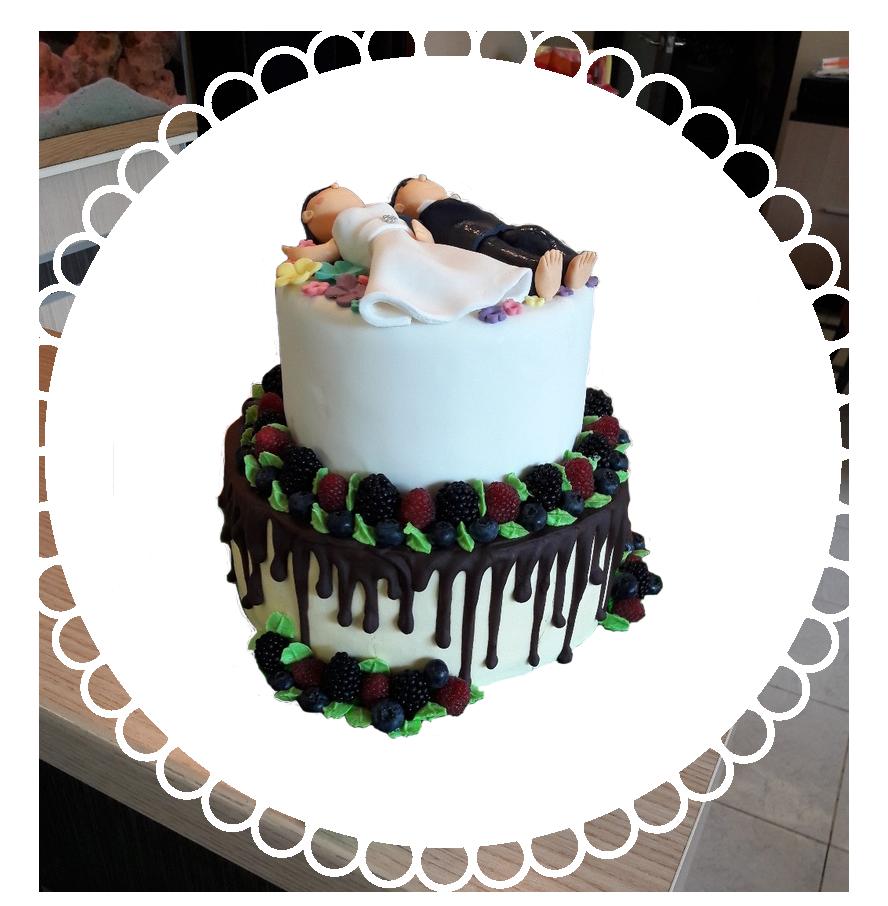 свадебный торт двухъярусный ТД-1