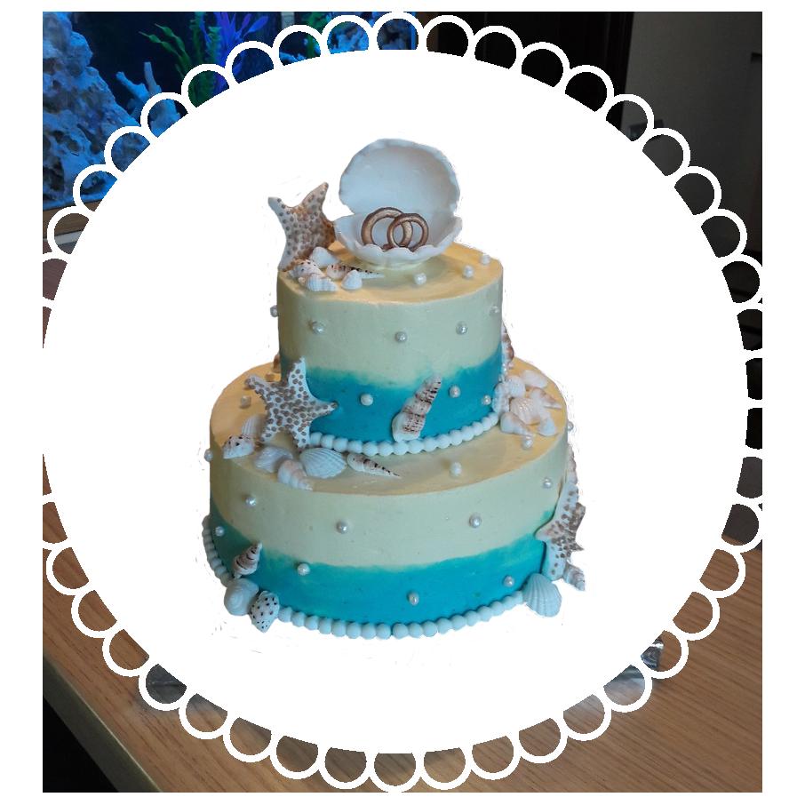свадебный торт двухъярусный ТД-2