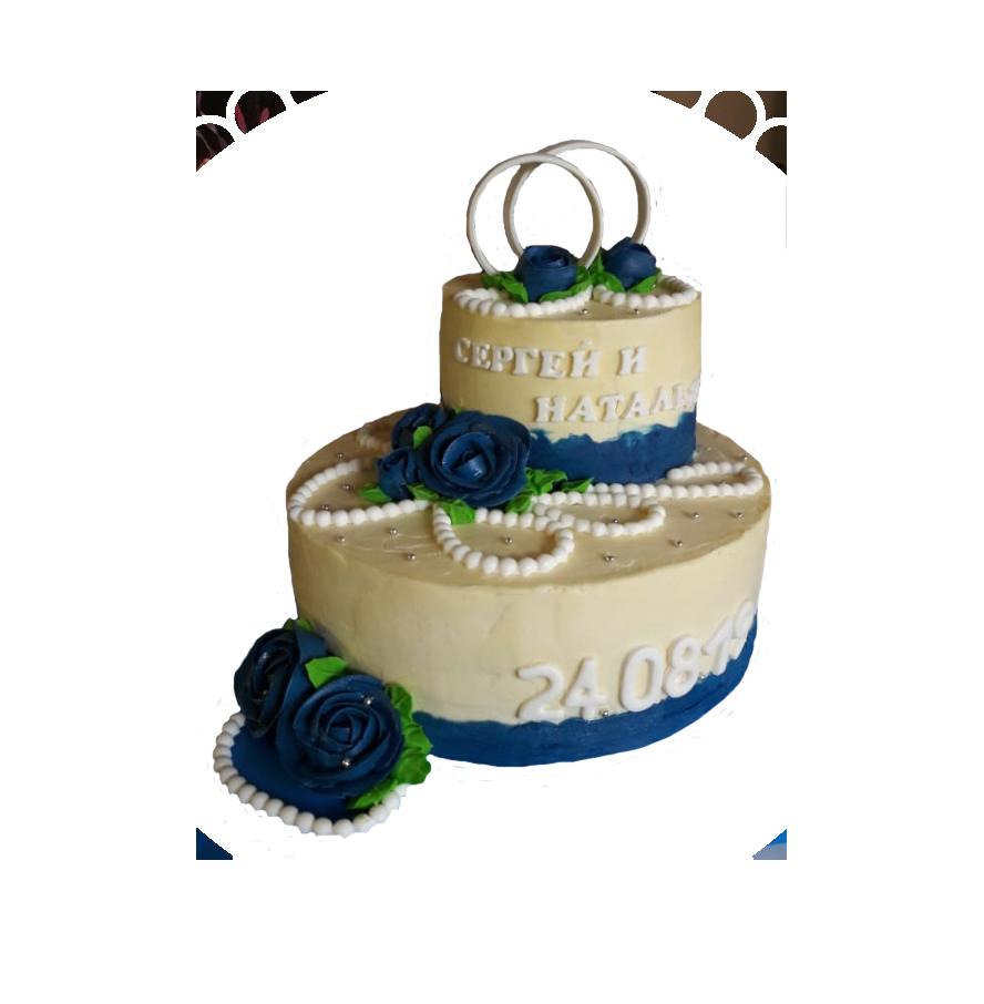 свадебный торт двухъярусный ТД-3
