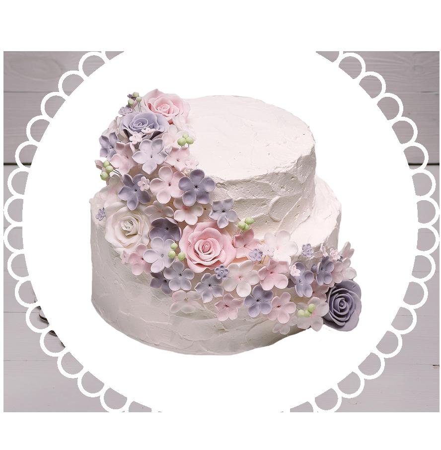 свадебный торт двухъярусный ТД-4
