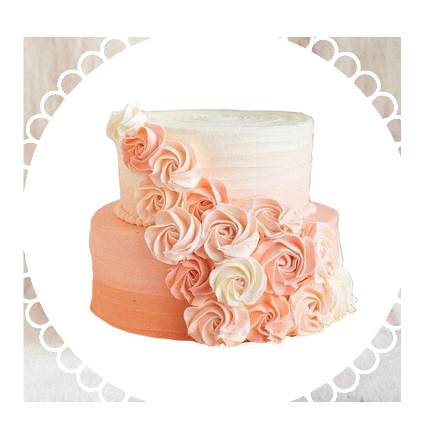 свадебный торт двухъярусный ТД-5
