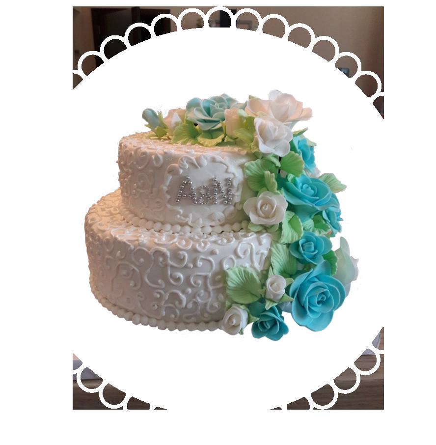 свадебный торт двухъярусный ТД-6
