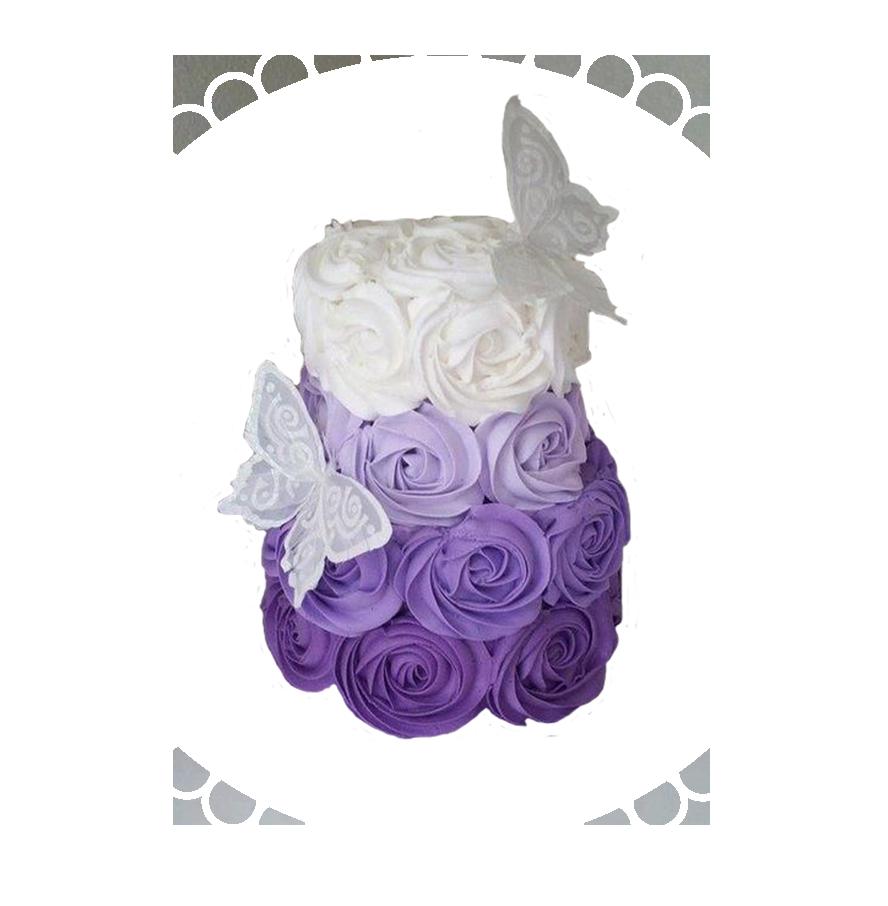 свадебный торт двухъярусный ТД-7