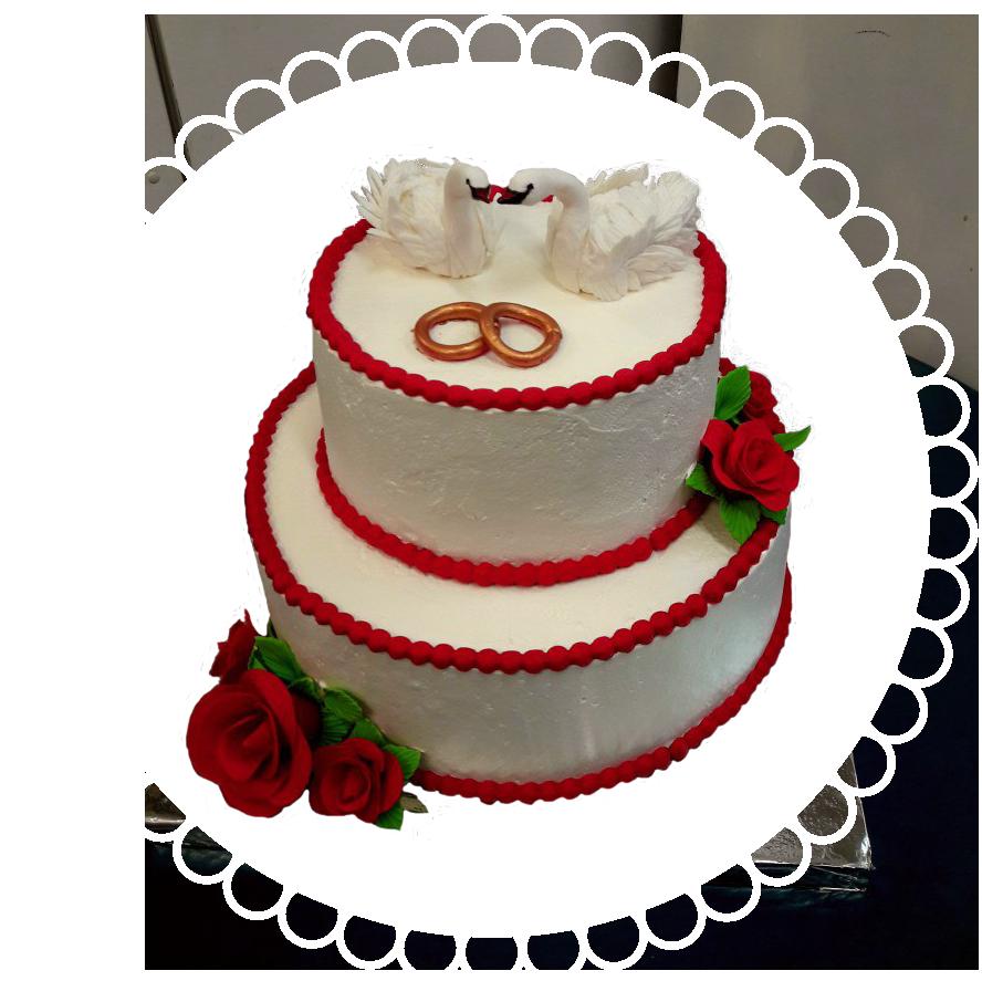 свадебный торт двухъярусный ТД-8