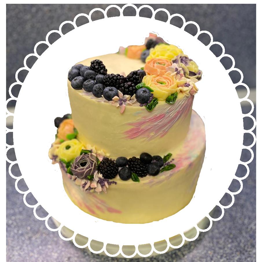 свадебный торт двухъярусный ТД-9