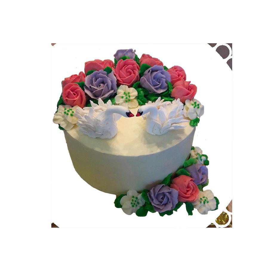свадебный торт круглый ТК-1