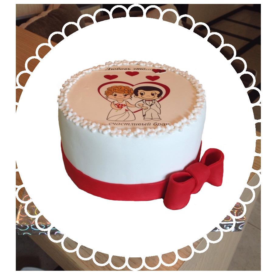 Торт свадебный круглый ТК-2