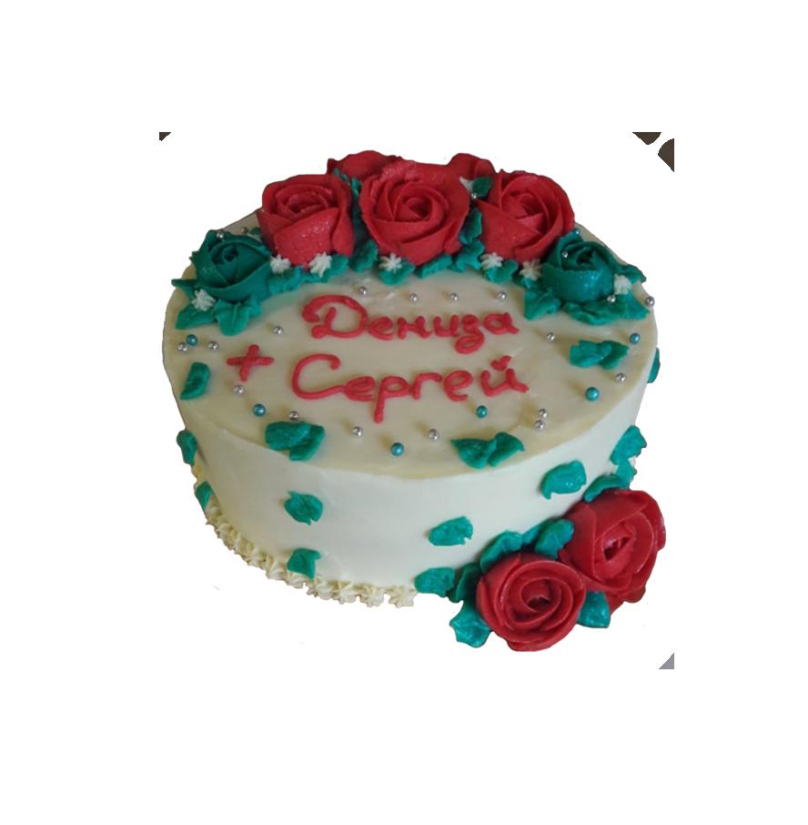 свадебный торт круглый ТК-3