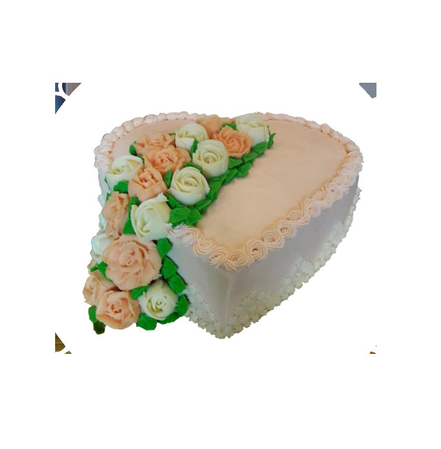 свадебный торт сердце ТС-1