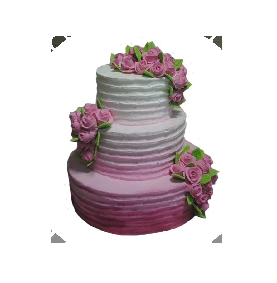 свадебный торт трехъярусный ТТ-1