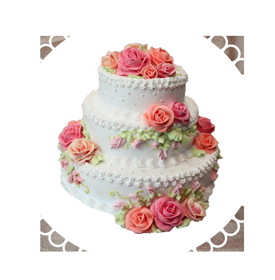 свадебный торт трехъярусный ТТ-2