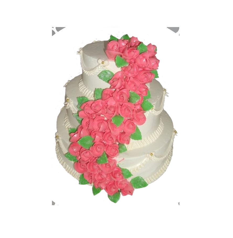 свадебный торт трехъярусный ТТ-3