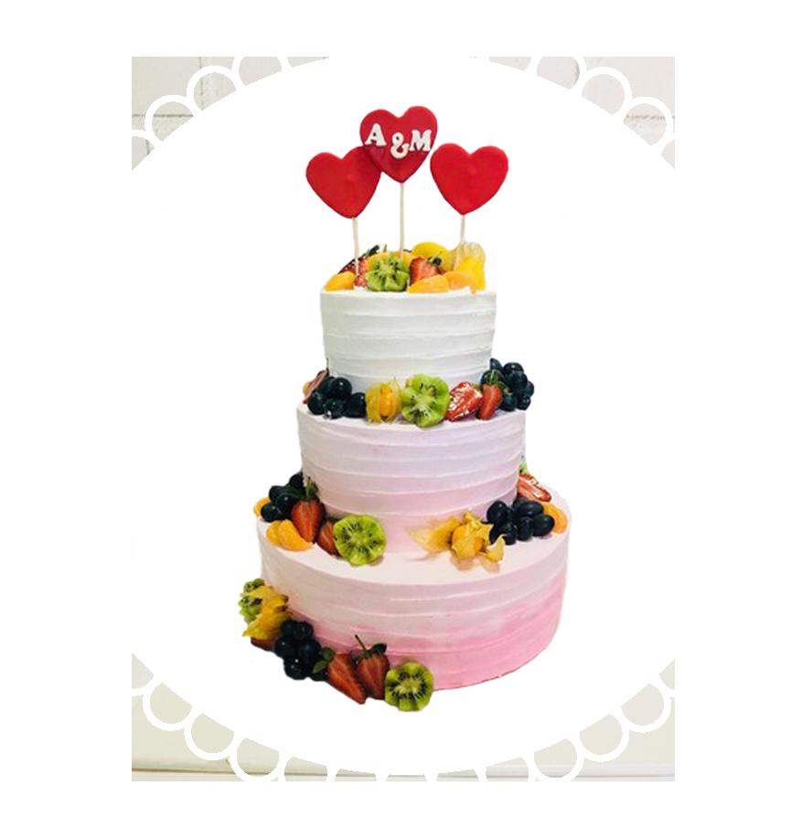 свадебный торт трехъярусный ТТ-4