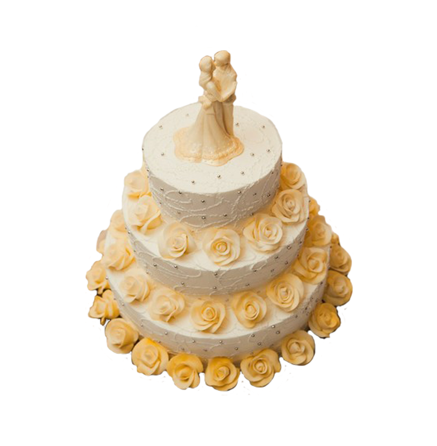 свадебный торт трехъярусный ТТ-5