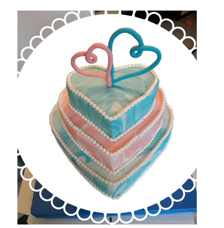 свадебный торт трехъярусный ТТ-8
