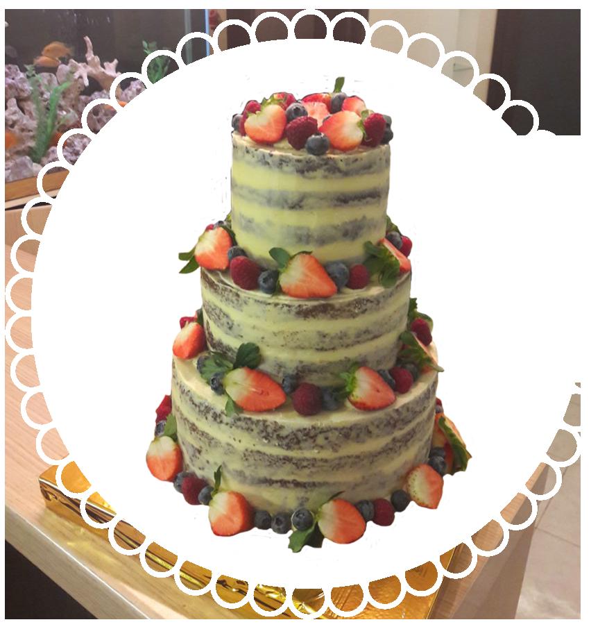 свадебный торт трехъярусный ТТ-9